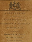 Madras Regulations 1802 to 1804